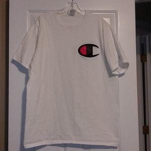 Champion white t-shirt w/logo
